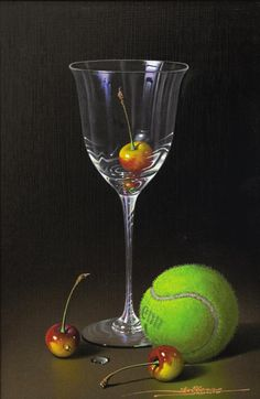 Javier Mulio       (Spanish b. 1957)         Known for realistic, exquisite reproductions of still life images, it is no coincidence t...