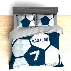All Day I Dream about Soccer... I love soccer! Do you dream of having the most unique bedroom décor? With our custom, printed duvet covers and comforters, your bedroom can be one of a kind. We make it