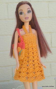 https://flic.kr/p/evYaHz | Barbies crochet sundress | lovely sundress for barbie…