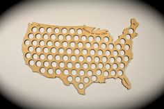 Beer Cap Map of the USA - pinned by pin4etsy.com