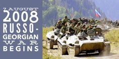 7 August Russo-Georgian War begins in the outskirts of the South Ossetian capital Tskhinvali All Is Lost, 7 August, Vladimir Putin, Georgian, Mount Rushmore, Russia, War, History, Travel