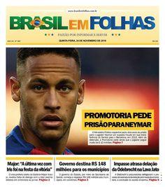 #Capadodia #Notícias #BomDia #Jornal  Edição 1887 - Quinta-feira, 24 de novembro de 2016  Promotoria espanhola pede dois anos de prisão para Neymar por fraude  O Ministério Público espanhol pediu dois anos de prisão para o jogador Neymar por suposta fraude em sua transferência do Santos para o Barcelona, em 2013. Além da detenção, a Promotoria pede ainda que o jogador pague multa de € 10 milhões.  https://www.jornal.digital/acervo/2016-11-24/e/