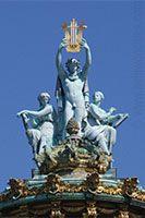 Statue on top of the Opera Garnier