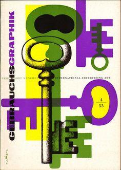 Gebrauchsgraphik No. 4 1955 by sandiv999, via Flickr
