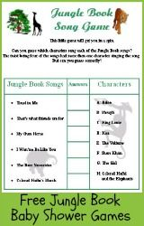 free printable jungle book baby shower games