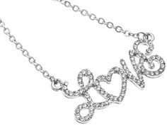 9.00 love crystal necklace
