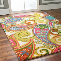 Color Pop Paisley Rug in memory of LindaHoo. She loved Paisley. Motif Paisley, Paisley Pattern, Paisley Design, Color Pop, My New Room, My Dream Home, Decoration, Rugs On Carpet, Just In Case