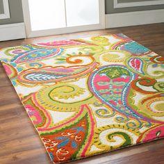 Color Pop Paisley Rug in memory of LindaHoo. She loved Paisley. Motif Paisley, Paisley Pattern, Paisley Design, Home Design, Color Pop, Feng Shui, Rug Hooking, My New Room, Girls Bedroom