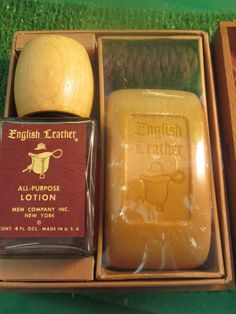 ENGLISH LEATHER all purpose lotion and soap on Roap by kookykitsch, $45.00
