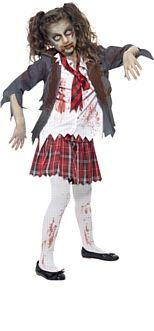 Child's Zombie School Girl Halloween Costume http://www.partypacks.co.uk/childs-zombie-school-girl-costume-pid98241.html