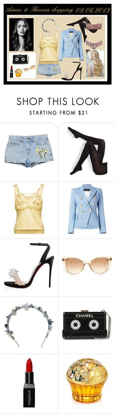 """""""Shopping with Aimee in Wien - Theresa"""" by miss-golden-dreamer on Polyvore featuring Mode, Gucci, Wolford, Dessous, Valentino, Balmain, Christian Louboutin, Linda Farrow, Eugenia Kim und Smashbox"""