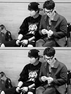 kim jongdae and kim jongin <33