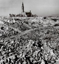 Vast destruction in Warsaw, Poland, photographed by Robert Capa three years after World War II. (October 1948)
