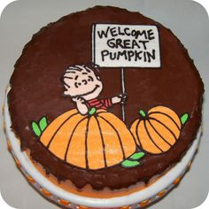 Great Pumpkin Cake (with buttercream transfer tutorial)