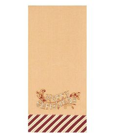 Look what I found on #zulily! 'Merry Christmas' Stripe Border Tea Towel #zulilyfinds