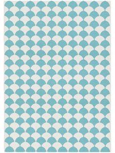 Plastique Tapis d'extérieur & intérieur Gerda Bleu