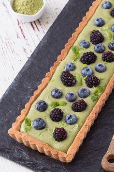 Crostata con crema al tè matcha: scopri la bontà di questo alimento in un fragrante dessert! [Matcha custard tart]
