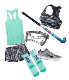 """Field Hockey Practice"" by kh-bug on Polyvore featuring Under Armour, NIKE, women's clothing, women's fashion, women, female, woman, misses and juniors"
