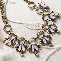 lilac statement necklace
