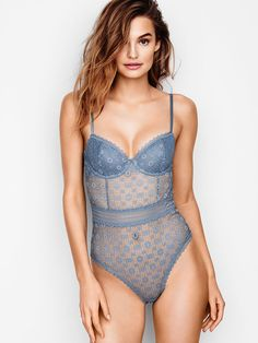 4189448f67 Medallion Lace Bodysuit - Victoria s Secret Teddy Bodysuit