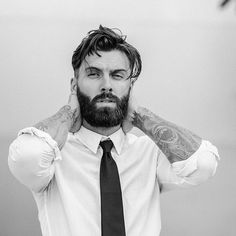 So, bearded and tattooed guys can't be elegant? Check this gentleman out!   #staybearded #theoldstreetbarber #beard #beards #bearded #moustache #grooming #groomed #style #stylish #menstyle #manstyle #urbanstyle #fashion #urbanfashion #urbangent #beardedgent #gent #gents #gentleman #gentlemen
