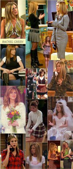 Jennifer Aniston as Rachel Estilo Rachel Green, Rachel Green Style, Rachel Green Friends, Rachel Green Outfits, Fashion Guys, Friends Fashion, Green Fashion, 90s Fashion, Christy Turlington