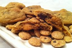 Double Chocolate Chip Crunch Cookies: The idea behind these cookies is simple. Make chocolate chip cookie dough, pour in a cup and a half of this cereal, then proceed as directed. So simple, so Cookie Crisp Cereal, Cereal Cookies, Best Chocolate Chip Cookies Recipe, Chocolate Chip Cookie Dough, Non Dairy Desserts, Cookie Crunch, Delicious Deserts, Cookie Recipes, Baking