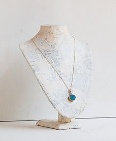 """Druzy Necklace Gold Necklace Pendant 14K GOLD by redtruckdesigns 
