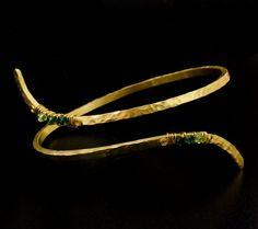 June Sale - Bedazzled Brass Arm Cuff - Ready Made or Kit – Unkamen Supplies