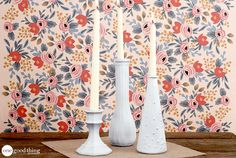 DIY Distressed Candlesticks