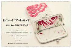 DIY Paket zum selber häkeln eines Etuis. Zu kaufen hier www.wollzaubershop.de in zwei Farben
