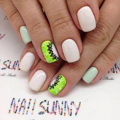 kiwi nails, kiwi nail design