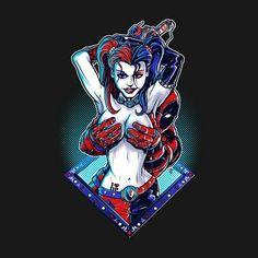 Harley Quinn & Deadpool peek-a-boo