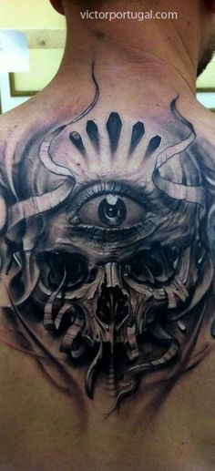 Tattoo art by Victor Portugal, surreal, bio-mech, dark stuff, abstract, black…