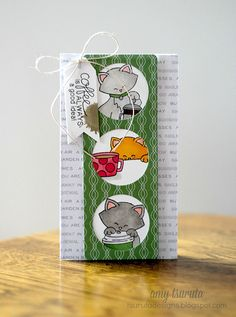 Coffee Card by Amy Tsuruta | Newton Loves Coffee Stamp set by Newton's Nook Designs #newtonsnook #coffee