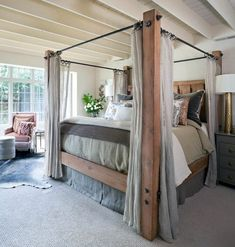 16 of the Best Canopy Bed Ideas - Unbelievable bed canopy pink for your home -. - 16 of the Best Canopy Bed Ideas – Unbelievable bed canopy pink for your home – # - Dream Bedroom, Home Bedroom, Master Bedroom, Bedroom Decor, Bedroom Ideas, Master Suite, Canopy Bed Frame, Wood Canopy Bed, Canopy Bedroom Sets