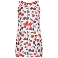 Monnalisa Girls Cherry Print Beach Dress