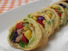 鮪魚蔬食蛋捲食譜、作法 | 錦靜的料理廚房的多多開伙食譜分享