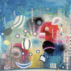 Matías Krahn. De todo lo invisible. Óleo sobre tela,130x130 cm, 2012.