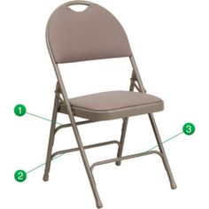 Extra Large Padded Folding Chairs