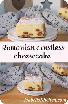 Romanian crustless cheesecake - isabell's kitchen