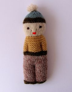 Knitted Boy doll.....sweet!