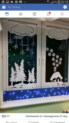 Easy and Fun DIY Christmas Decoration Ideas on a Budget - Holiday Window Decor . Easy and Fun DIY Christmas Decoration Ideas on a Budget - Holiday Window Decorations - Christmas Decorations - Budget Holiday, Christmas On A Budget, Christmas Door, Christmas Windows, Christmas Holiday, Decoration Creche, Christmas Window Decorations, Holiday Decor, Holiday Ideas