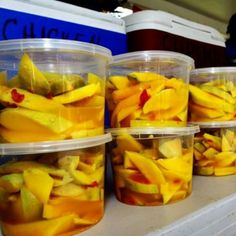Spicy Pickled Mangos. Guam. I miss all the great food on this island.