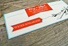 Engagement Invitation: Rustic and Vintage Airplane