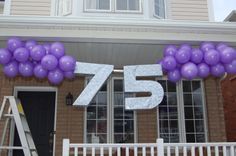 Dads 75th Birthday Banner Made With Giant Cardboard Numbersthis Would Be Cool