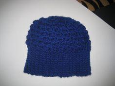 Classic Royal Blue Adult Winter Hat Cap by CrochetandMacrame, $9.99