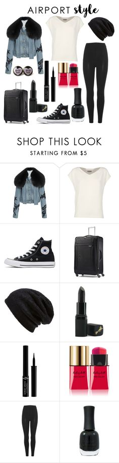 """""""airport style"""" by mayamaya269 ❤ liked on Polyvore featuring Jonathan Simkhai, Alberto Biani, Converse, Samsonite, Barefoot Dreams, Barry M, Giorgio Armani, Yves Saint Laurent, Yeezy by Kanye West and Charlotte Russe"""