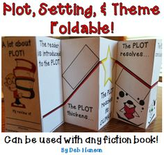 These two foldables can be used with ANY fiction book. It can be completed as a during-reading activity or a post-reading activity to give students an opportunity to reflect upon the book. The foldables can also be inserted into interactive notebooks for future reference. $