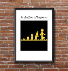 Digital Print - Evolution of Legoman - Kids Room